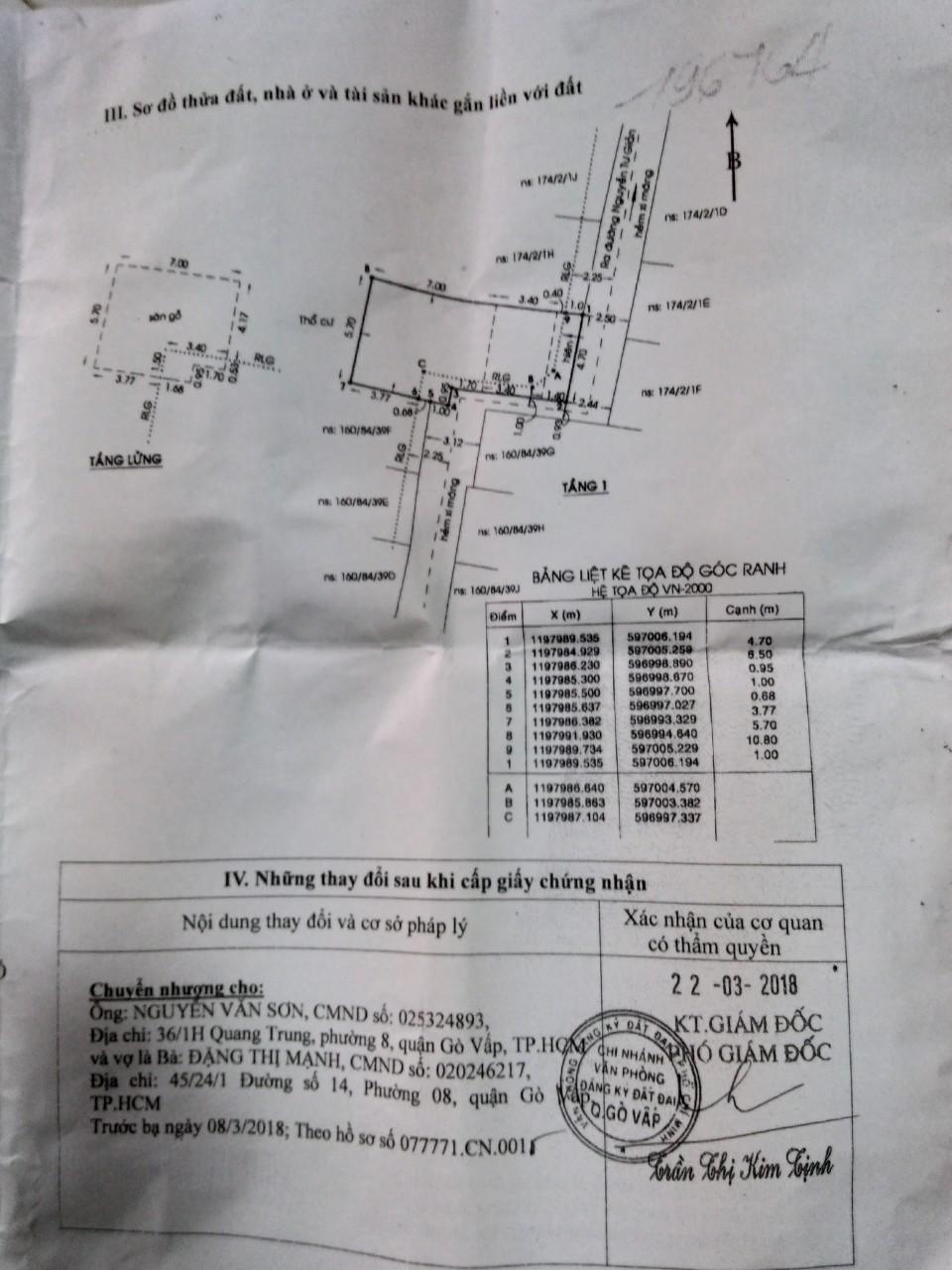 Nhà Bán Đường Nguyễn Tư Giản, P12, Gò Vấp